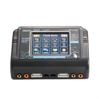 Универсальное зарядное устройство HTRC T240 DUO AC 150W DC 240W 10A Touch Screen Dual