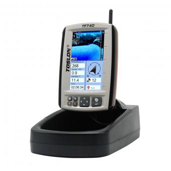 Беспроводной цветной эхолот Toslon TF-740 с функцией GPS и автопилотом