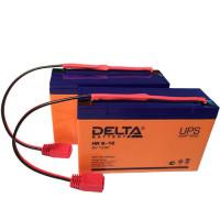 Свинцово-кислотные аккумуляторные батареи Delta серии HR 6V 12AH (комплект 2 шт)