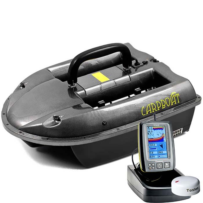 Кораблик Carboat Carbon + эхолот TF640