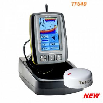 Беспроводной цветной эхолот Toslon TF-640